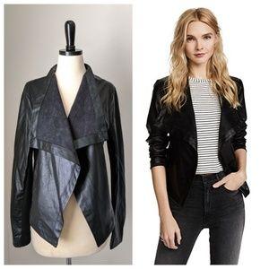 BB DAKOTA Brody vegan leather open jacket black